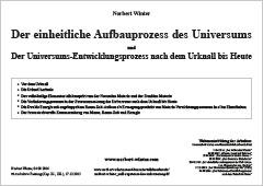 Der einheitliche Aufbauprozess des Universums